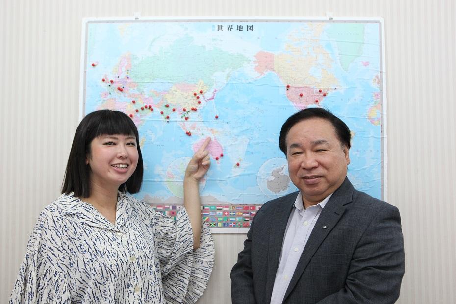 「+α・+β」グローバル教養講座に在ハガッニャ日本国総領事館で活躍中の上野さんが参加しました