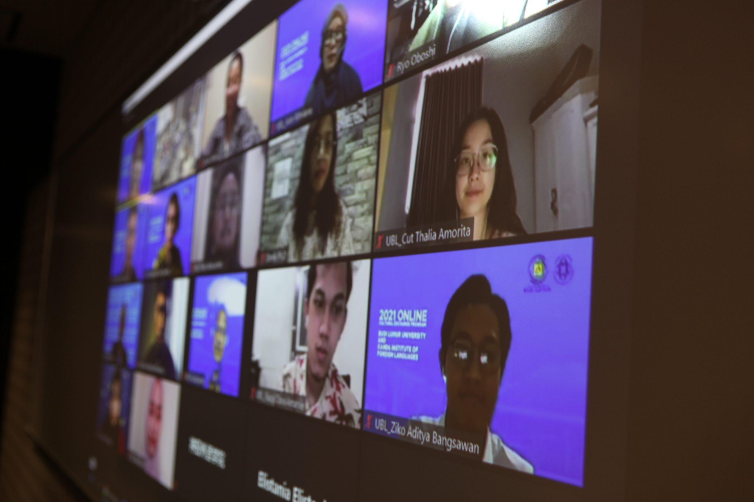 インドネシア・ブディルフール大学とのオンライン国際交流プログラムが始まりました