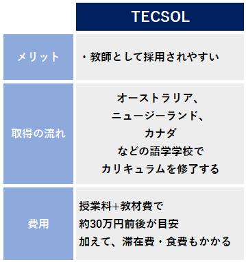 TECSOL 資格