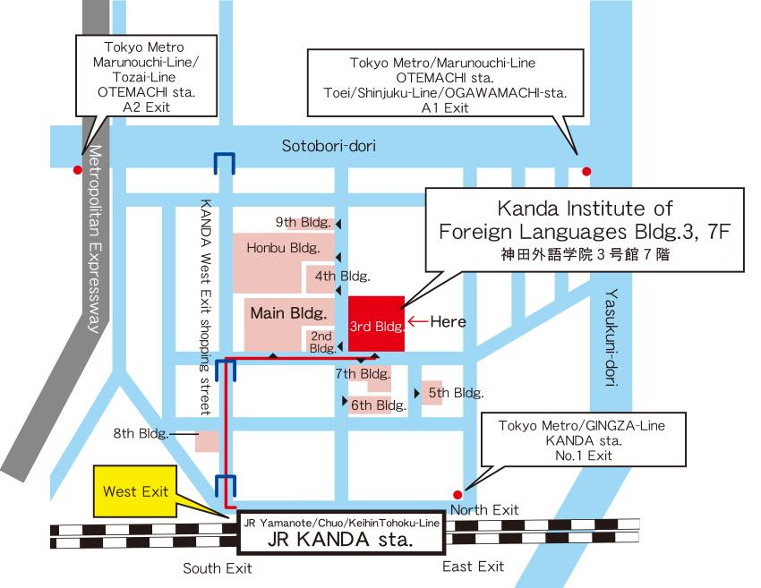 Kanda Gaigo Gakuin Map