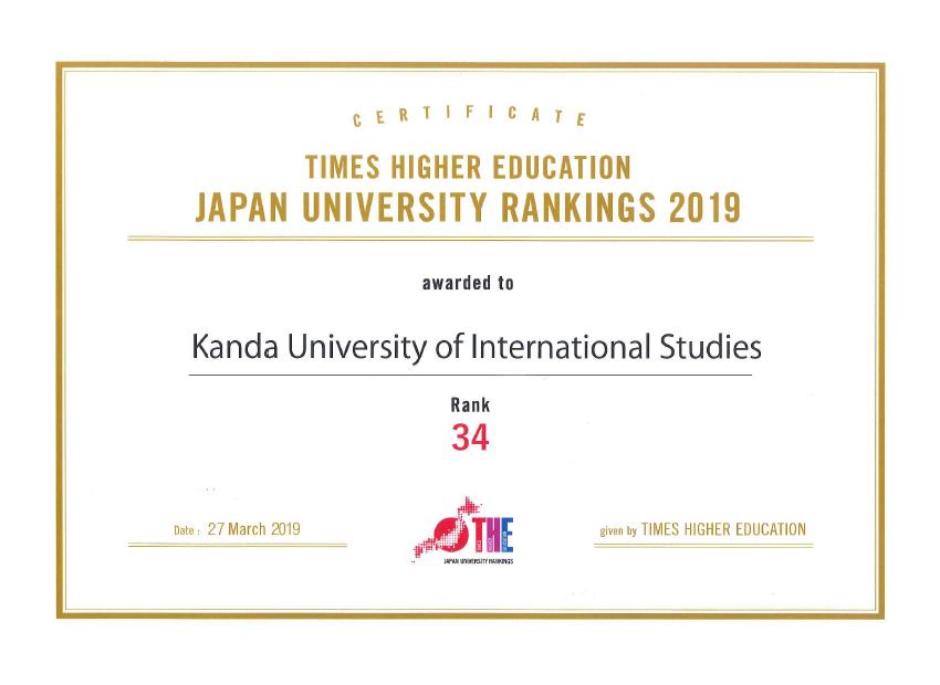 世界大学ランキング2019